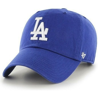 47 Brand Curved Brim Los Angeles Dodgers MLB Clean Up Cap blau