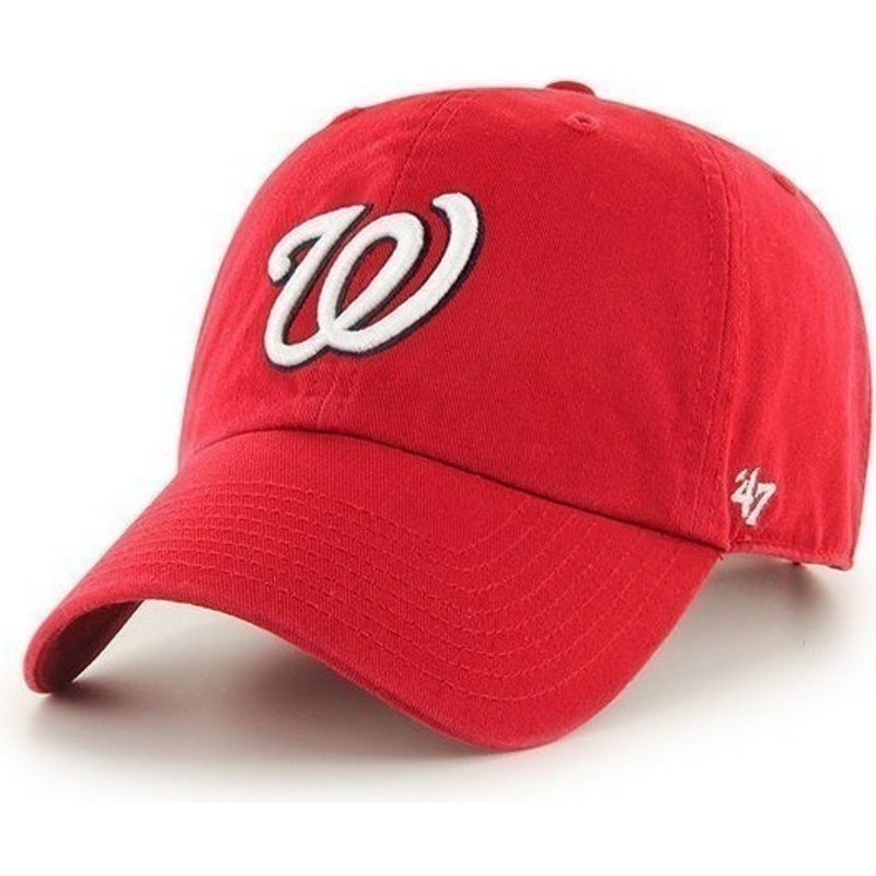 47-brand-curved-brim-washington-nationals-mlb-clean-up-cap-rot