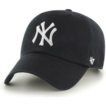 47 Brand Curved Brim New York Yankees MLB Clean Up Cap schwarz