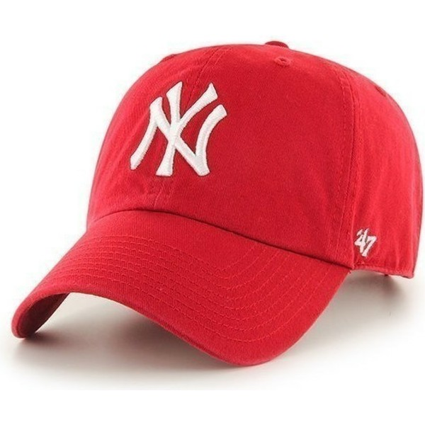 47-brand-curved-brim-new-york-yankees-mlb-clean-up-cap-rot