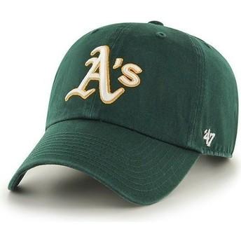 47 Brand Curved Brim Oakland Athletics MLB Clean Up Cap grün