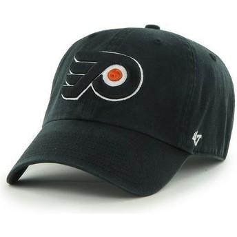 47 Brand Curved Brim Philadelphia Flyers NHL Clean Up Cap schwarz