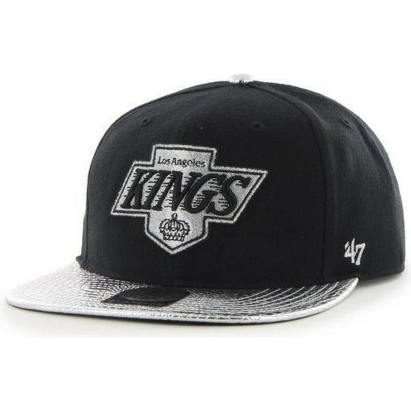 47-brand-flat-brim-los-angeles-kings-nhl-snapback-cap-schwarz-