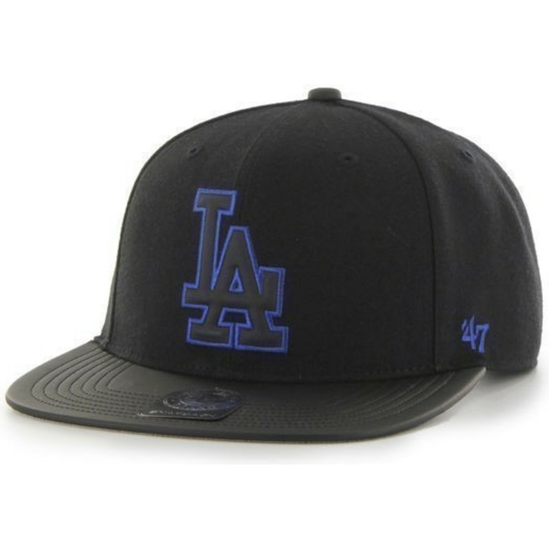 47-brand-flat-brim-mlb-los-angeles-dodgers-smooth-snapback-cap-schwarz-