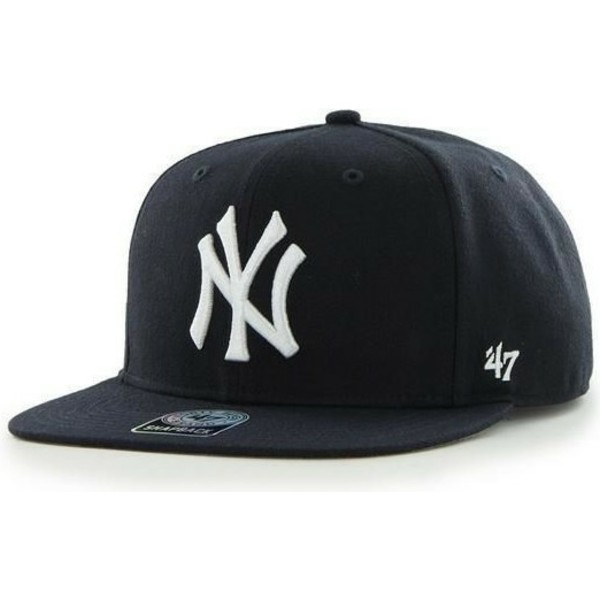 47-brand-flat-brim-seitliches-logo-mlb-new-york-yankees-smooth-snapback-cap-marineblau