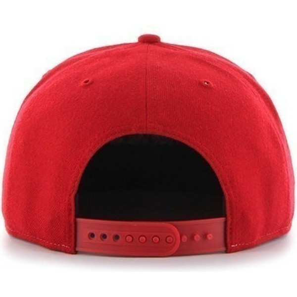 47-brand-flat-brim-seitliches-logo-mlb-boston-red-sox-smooth-snapback-cap-rot
