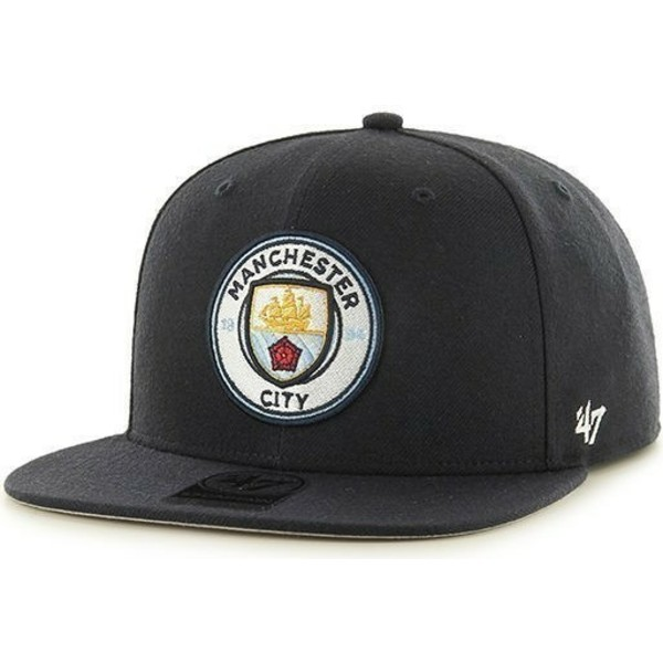 47-brand-flat-brim-manchester-city-football-club-smooth-snapback-cap-marineblau