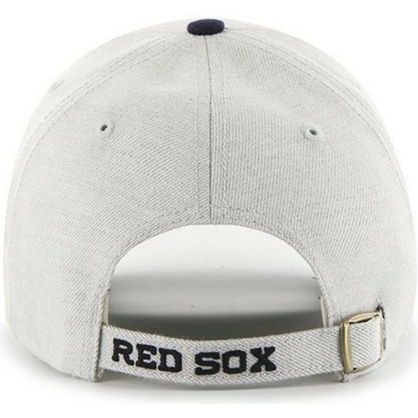 47-brand-curved-brim-mlb-boston-red-sox-cap-grau-mit-marineblauem-schirm