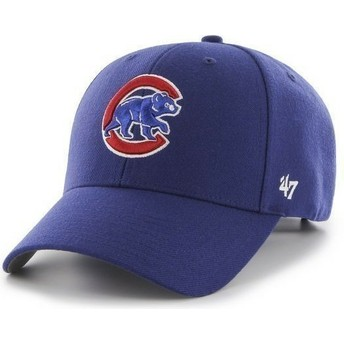 47 Brand Curved Brim MLB Chicago Cubs Smooth Cap blau