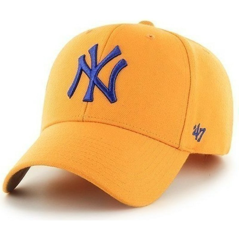 47-brand-curved-brim-mlb-new-york-yankees-smooth-cap-gelb