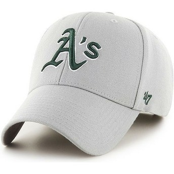47 Brand Curved Brim MLB Oakland Athletics Smooth Cap grau
