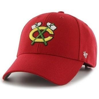 47 Brand Curved Brim NHL Chicago Blackhawks Cap rot