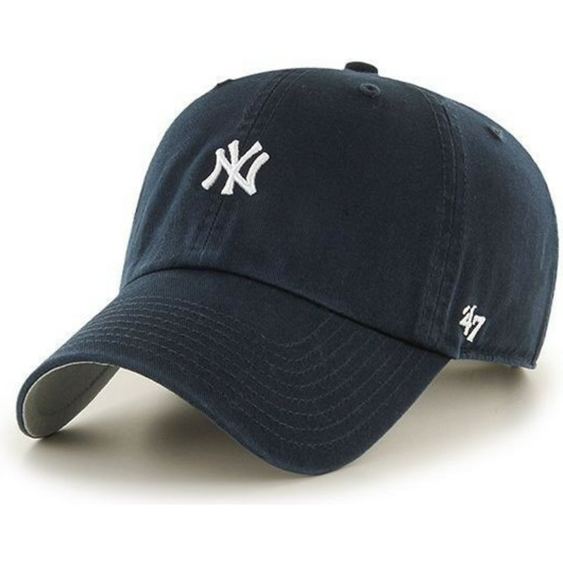 47-brand-curved-brim-kleines-logo-mlb-new-york-yankees-cap-marineblau
