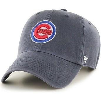 47 Brand Curved Brim Vorderes Logo MLB Chicago Cubs Cap marineblau