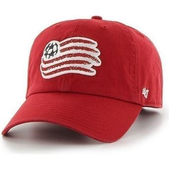 47 Brand Curved Brim Großes Vorderes Logo New England Revolution FC Cap rot