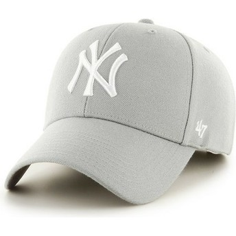 47 Brand Curved Brim New York Yankees MLB Cap grau
