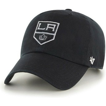 47 Brand Curved Brim Los Angeles Kings NHL Clean Up Cap schwarz