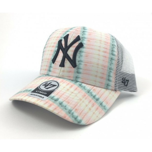 47-brand-flower-print-new-york-yankees-mlb-trucker-cap-pink