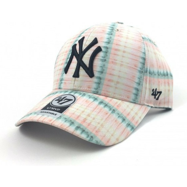 47-brand-curved-brim-flower-print-new-york-yankees-mlb-cap-pink