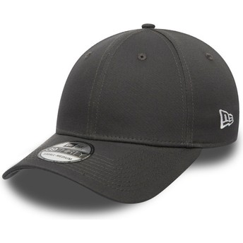 New Era Dunkelgrau Curved Brim 39THIRTY Basic Flag Fitted Cap grau