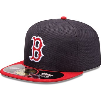 New Era Flat Brim 59FIFTY Diamond Era Boston Red Sox MLB Fitted Cap rot