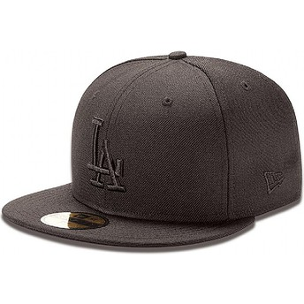 New Era Flat Brim 59FIFTY schwarz on schwarz Los Angeles Dodgers MLB Fitted Cap schwarz