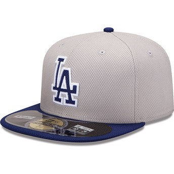 New Era Flat Brim 59FIFTY Diamond Era Los Angeles Dodgers MLB Fitted Cap blau