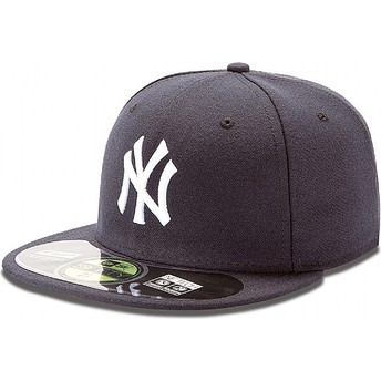 New Era Flat Brim 59FIFTY Authentic On-Field New York Yankees MLB Fitted Cap marineblau