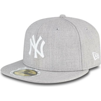New Era Kinder Flat Brim 59FIFTY Essential New York Yankees MLB Fitted Cap grau
