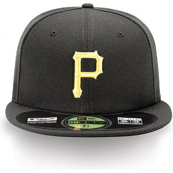 new-era-flat-brim-59fifty-authentic-on-field-pittsburgh-pirates-mlb-fitted-cap-schwarz