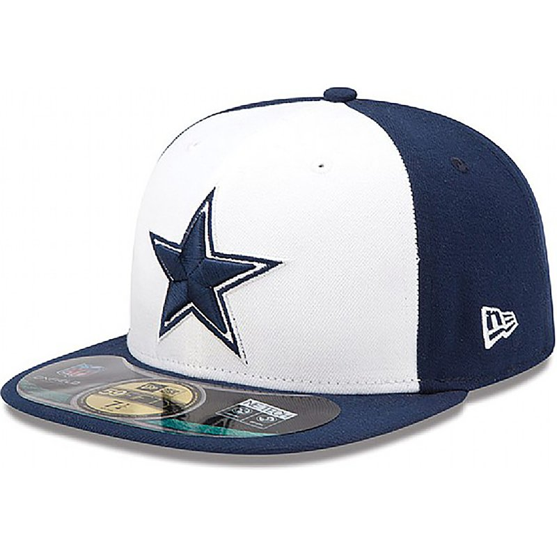 new-era-flat-brim-59fifty-authentic-on-field-game-dallas-cowboys-nfl-fitted-cap-blau