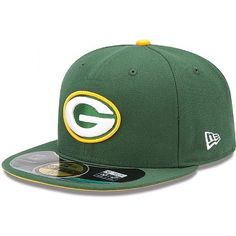 New Era Flat Brim 59FIFTY Authentic On-Field Game Green Bay Packers NFL Fitted Cap grün
