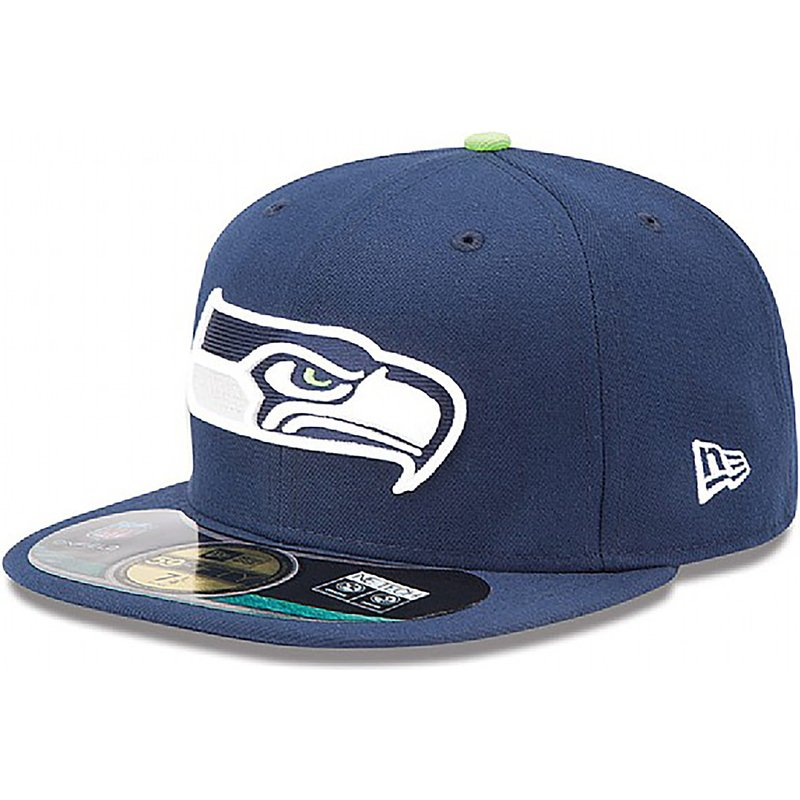 new-era-flat-brim-59fifty-authentic-on-field-game-seattle-seahawks-nfl-fitted-cap-blau