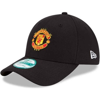 New Era Curved Brim 9FORTY Essential Manchester United Football Club Adjustable Cap schwarz