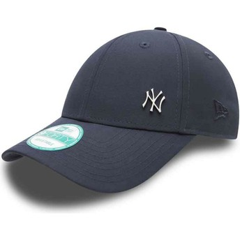 New Era Curved Brim 9FORTY Flawless Logo New York Yankees MLB Adjustable Cap marineblau