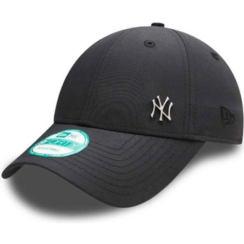 New Era Curved Brim 9FORTY Flawless Logo New York Yankees MLB Adjustable Cap schwarz
