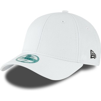 New Era Curved Brim 9FORTY Basic Flag Adjustable Cap weiß