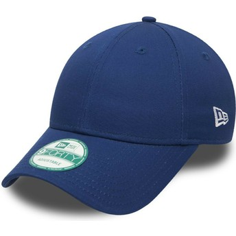 New Era Curved Brim 9FORTY Basic Flag Adjustable Cap blau
