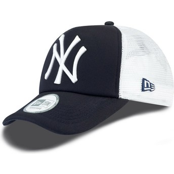 New Era Clean A Frame New York Yankees MLB Trucker Cap marineblau