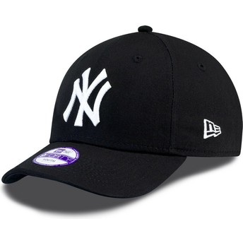 New Era Kinder Curved Brim 9FORTY Essential New York Yankees MLB Adjustable Cap schwarz